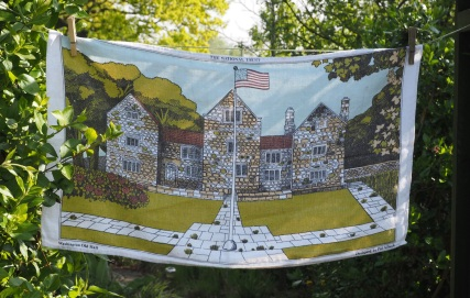 Washington Old Hall, unusual for her tea towels to be in 'landscape' style